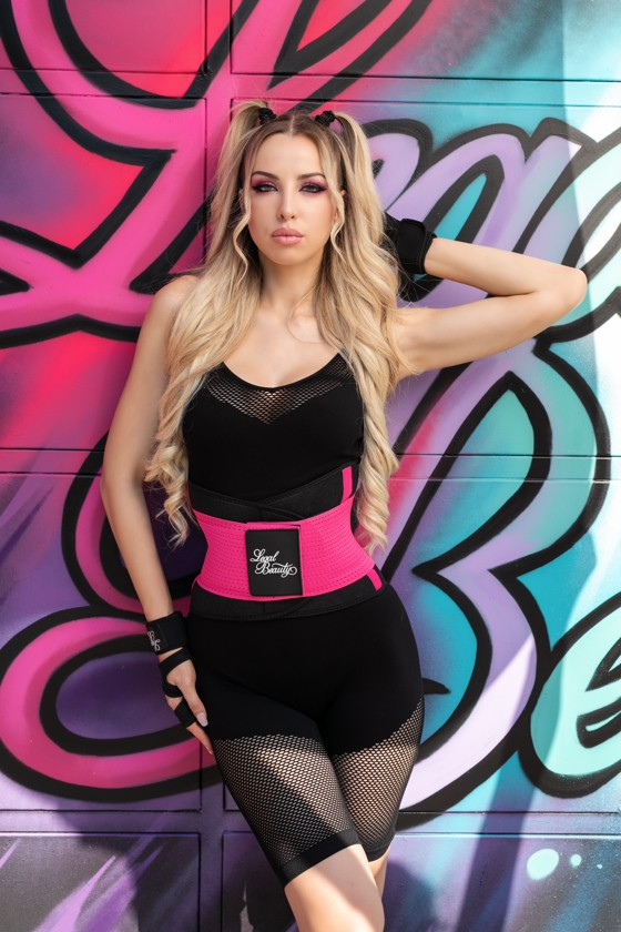 London - Sports Belt with Extra Waistband - Barby pink - L