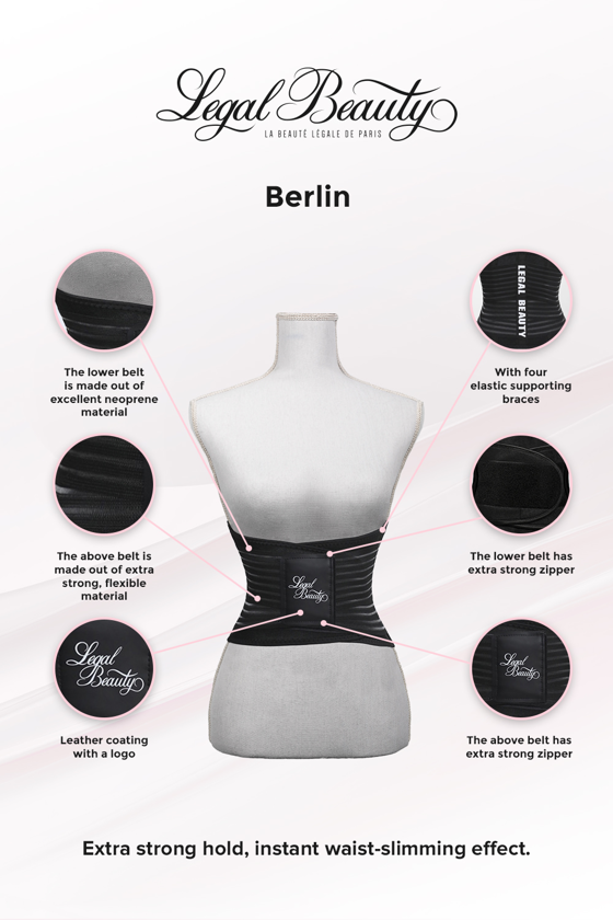 Berlin - Sports Belt with Extra Waistband - Jet black - S