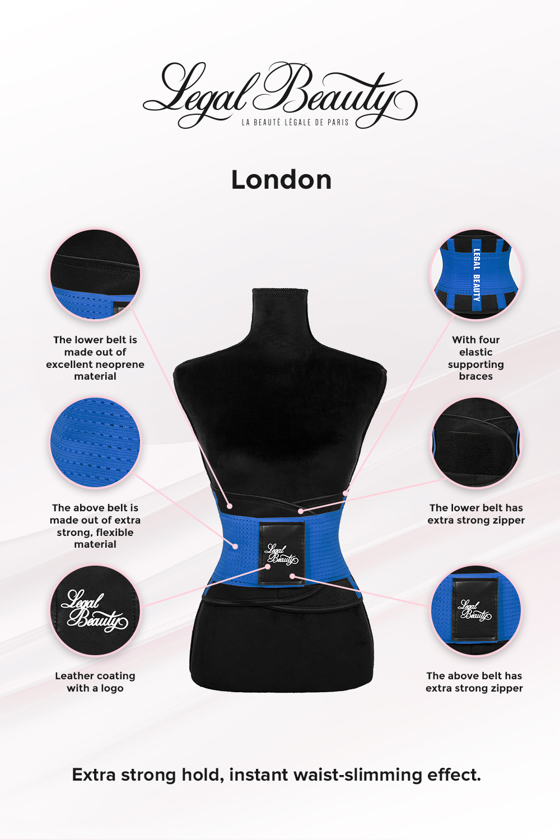 London - Sports Belt with Extra Waistband - Sky blue - L