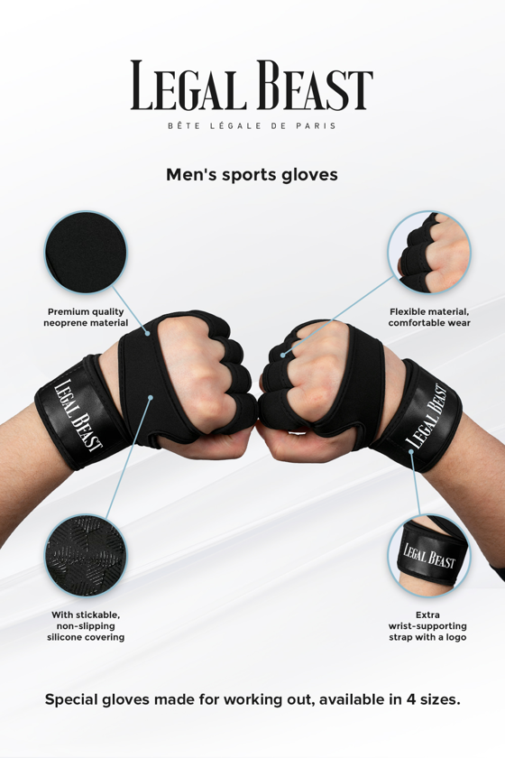 Legal Beast Men sports gloves - Sports Gloves - Phantom black - S