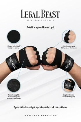 Legal Beast FÉRFI sportkesztyű - Sportkesztyű - Fantomfekete - S