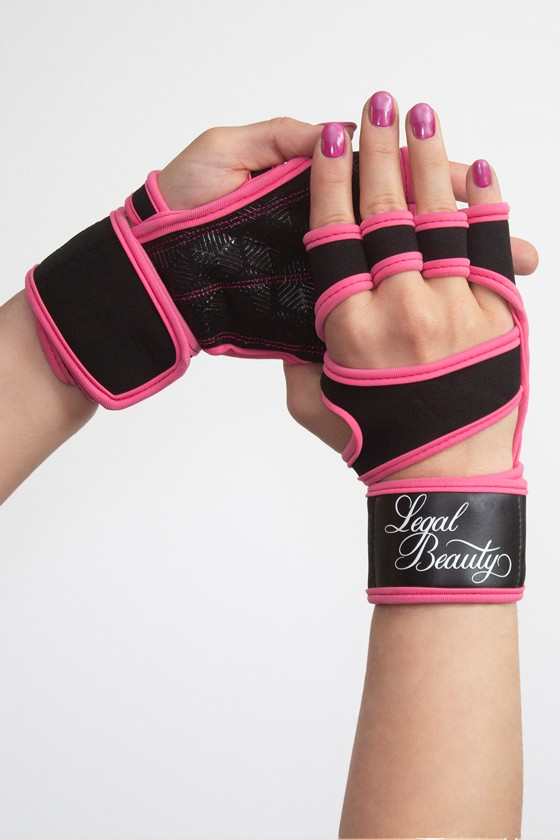 Women's sports gloves - Sports Gloves - Neon pink - S