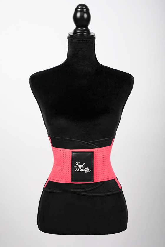 London - Sports Belt with Extra Waistband - Neon pink - XXL