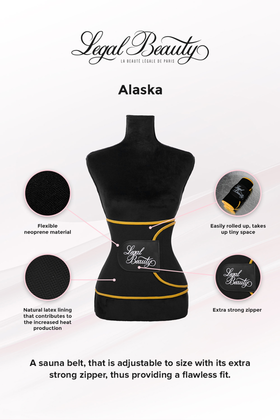 Alaska - Sauna belt - Bumblebee yellow border - M