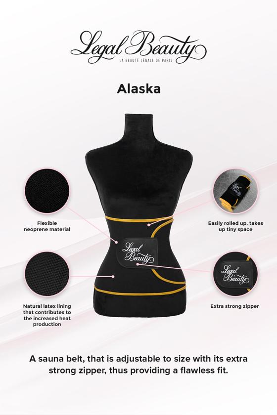 Alaska - Sauna belt - Bumblebee yellow border - L