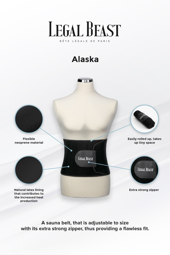 Legal Beast Men Alaska - Sauna belt - Phantom black - M