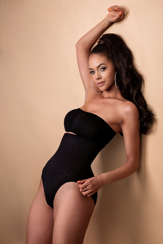Figure shaping, high-waisted panty - Panty - Toffee cream - Thong - XS/S
