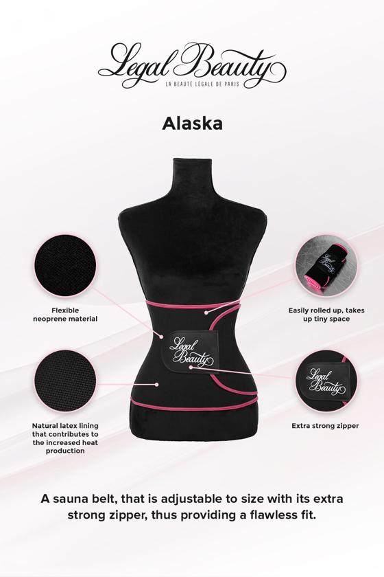 Alaska - Sauna belt - Pink border - M