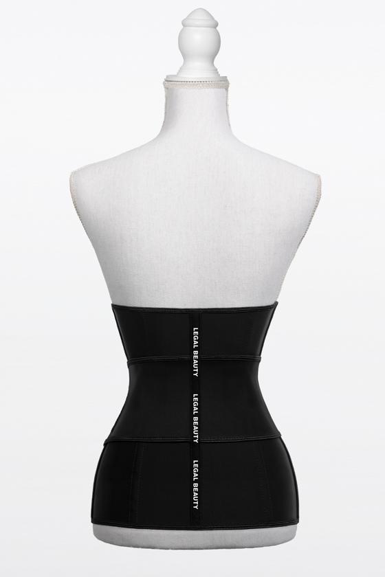 Los Angeles verlängert - Shapewear Waist Trainer Korsett mit Taillengürtel - Tiefschwarz - L