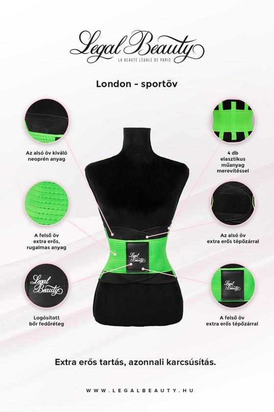 London - Sportöv extra derékpánttal - Neon zöld - L
