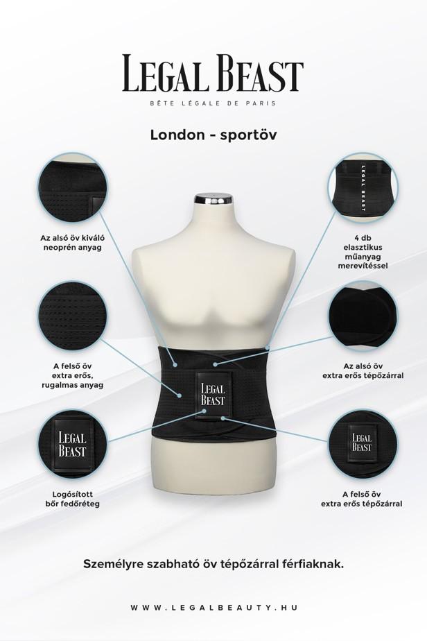 Bauchwegg/ürtel Legal Beauty London Sportg/ürtel