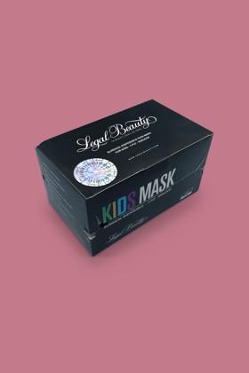 Legal Beauty 4 rétegű karbonfekete gyerekmaszk - 50 db - Karbonfekete - Gyermek