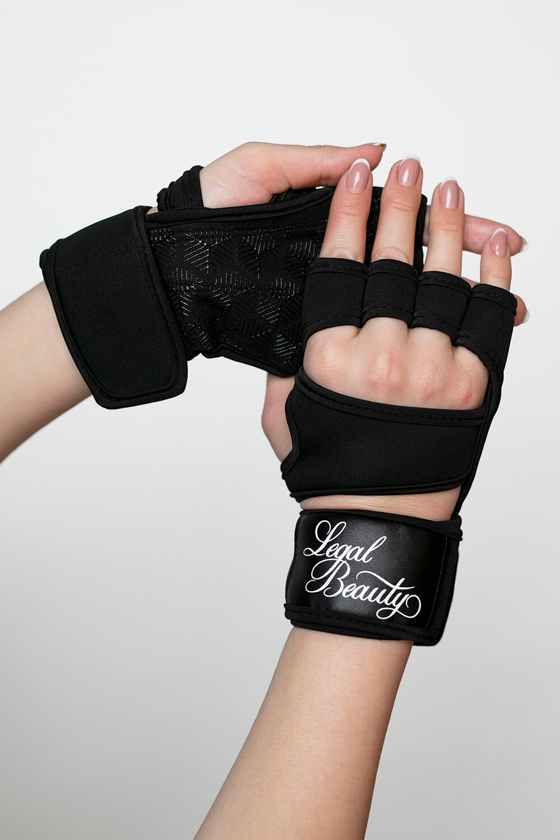 Women's sports gloves - Jet black - S