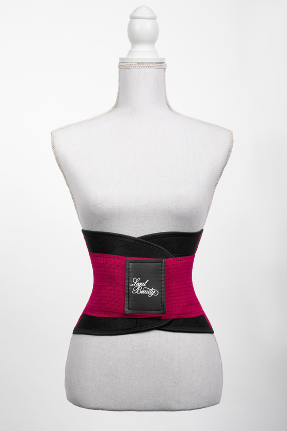 London - Sports Belt with Extra Waistband - Ruby red - L