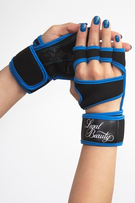 Women's sports gloves - Sky blue - S