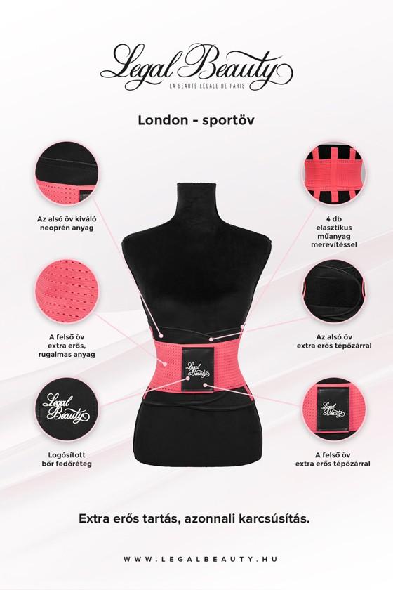 London - Sportöv extra derékpánttal - Neon rózsaszín - L