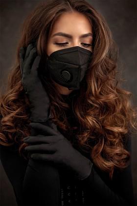Premium quality Legal Beauty nitrile gloves - black - 60 pcs.