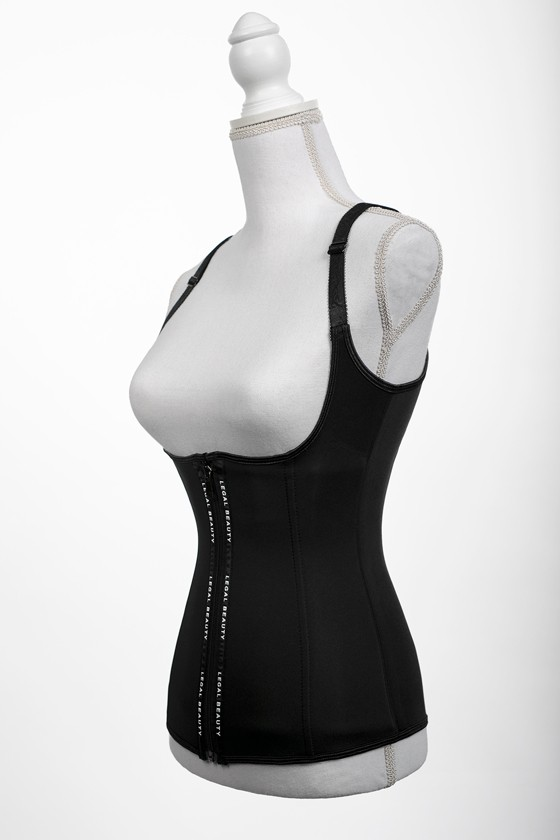 Barcelona - Zipper Neoprene Waist Trainer Vest - Jet black - XXS