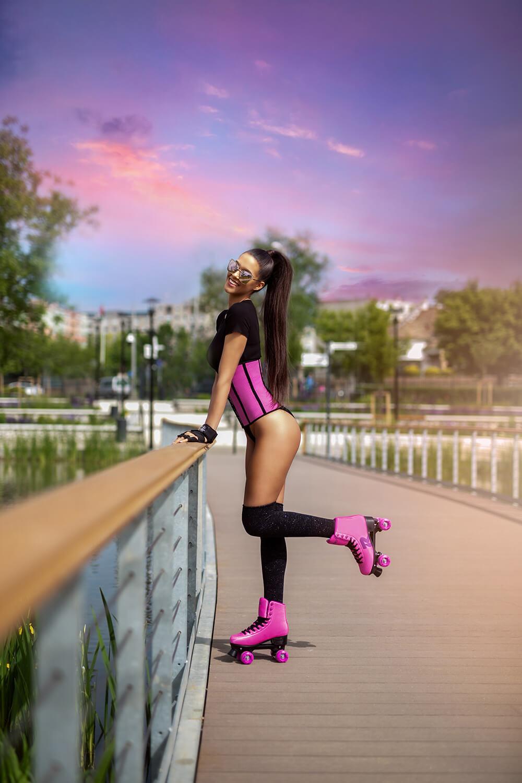 Tokyo - Breathable Waist Trainer - Super pink - XXS