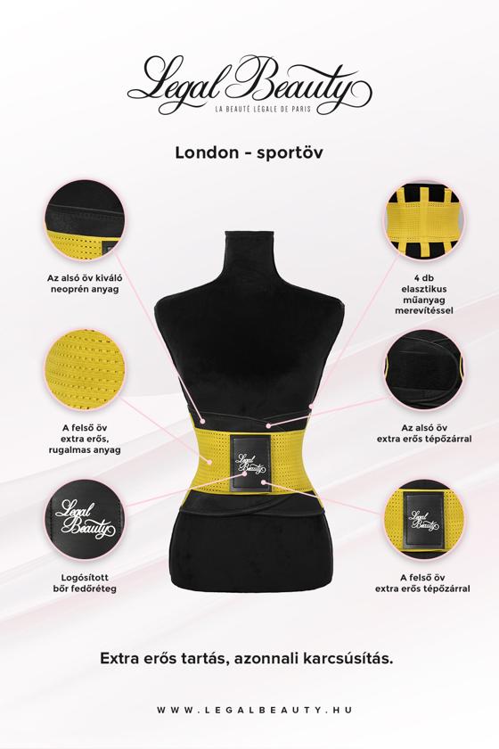 London - Sportöv extra derékpánttal - Napsárga - L