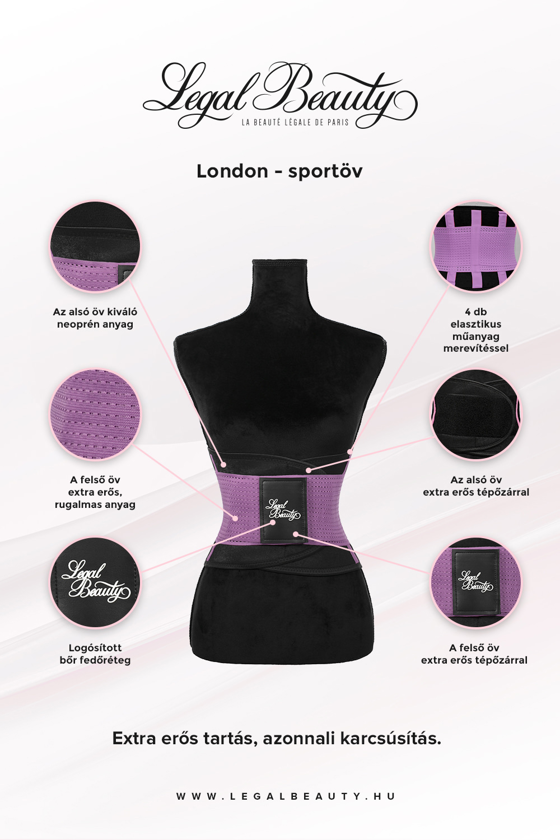 London - Sportöv extra derékpánttal - Levendula lila - S