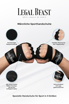 Legal Beast Men sports gloves - Sporthandschuhe - Phantom schwarz - S