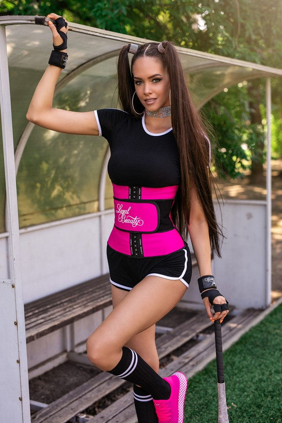 Los Angeles - Waist Trainer with Waistband - Pink - XXS