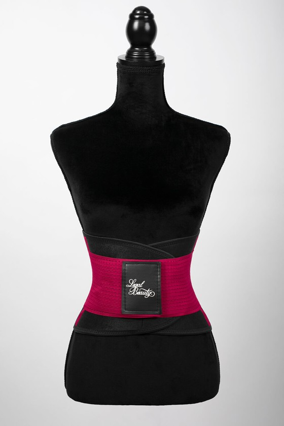 London - Sports Belt with Extra Waistband - Ruby red - XL