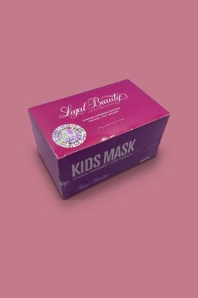 Legal Beauty 4 rétegű pink gyerekmaszk - 50 db - Pink - Gyermek