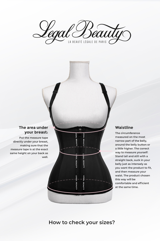 Los Angeles long torso - Waist Trainer with Waistband - Jet black - XXS