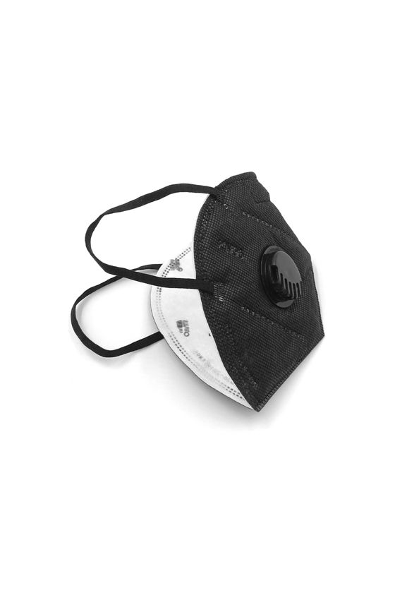 FFP2 (N95/KN95) Respirator mask with valve - Legal Beauty facemask - 5 pcs. - Carbon black - With valve