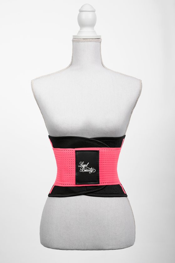 London - Sports Belt with Extra Waistband - Neon pink - S