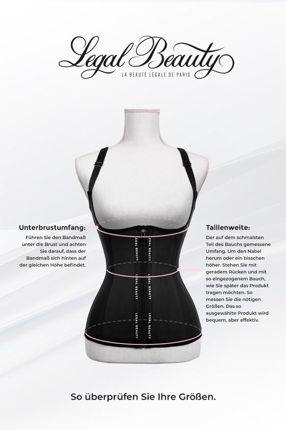 London - Waist Trainer Sportgürtel mit extra Taillengürtel - Tiefschwarz - S