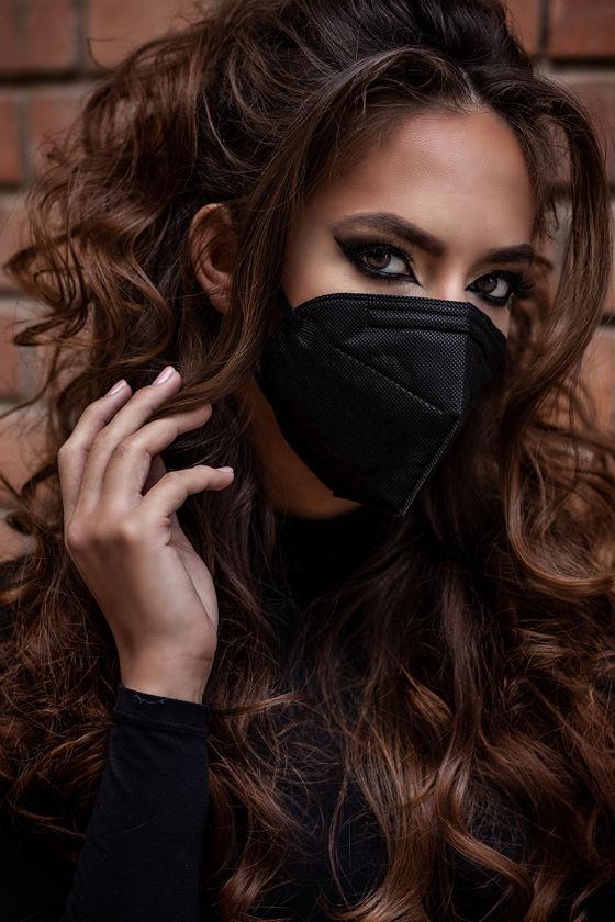 Legal Beauty FFP2 (N95/KN95) Karbonfekete arcmaszk - Legal Beauty Arcmaszk - 5 db - Karbonfekete - Szelep nélküli