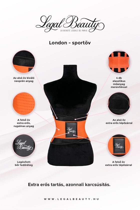 London - Sportöv extra derékpánttal - Neon narancs - S