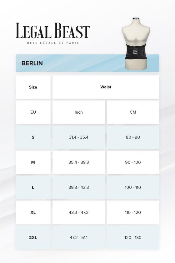 Legal Beast Men Berlin - Sports Belt with Extra Waistband - Phantom black - M