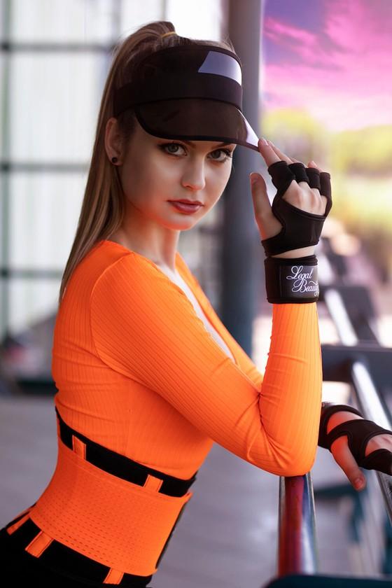 Women's sports gloves - Sports Gloves - Jet black - M