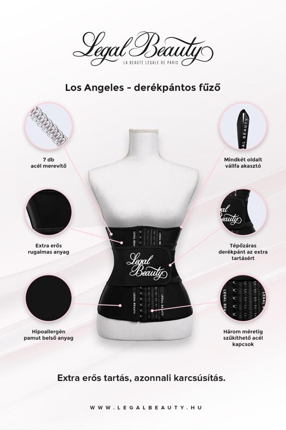 Los Angeles - Alakformáló fűző derékpánttal - Éjfekete - XL