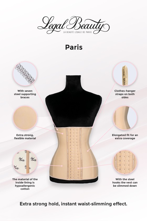 Paris long torso - Waist Trainer - Toffee cream - XXS