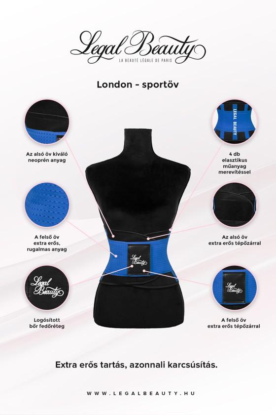 London - Sportöv extra derékpánttal - Égszínkék - S