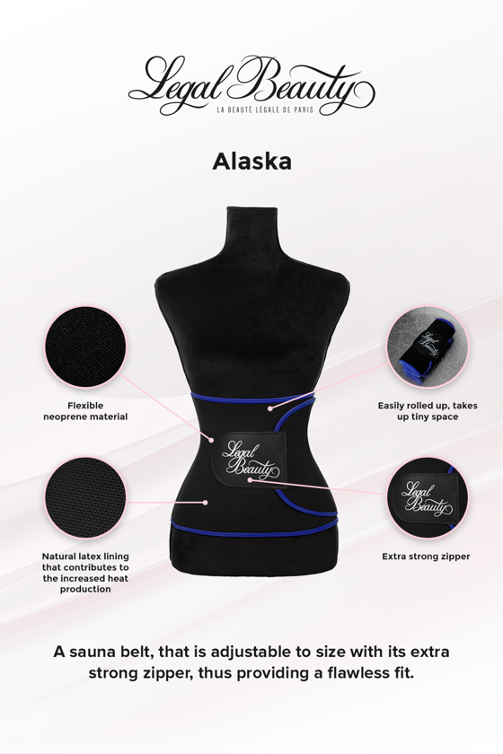Alaska - Sauna belt - Admiral blue border - M