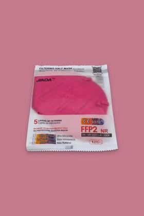 Jiada FFP2 CE 0370 - FFP2 maszk - 10 db - Rózsaszín - Szelep nélküli