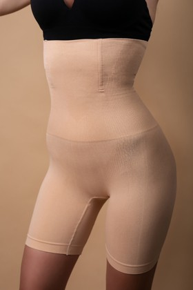 Figure shaping, high-waisted panty - Panty - Toffee cream - Short - XS/S