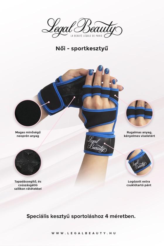 Női sportkesztyű - Sportkesztyű - Égszínkék - S