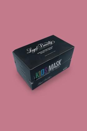 Legal Beauty 4 rétegű karbonfekete gyerekmaszk - 50 db - Karbonfekete