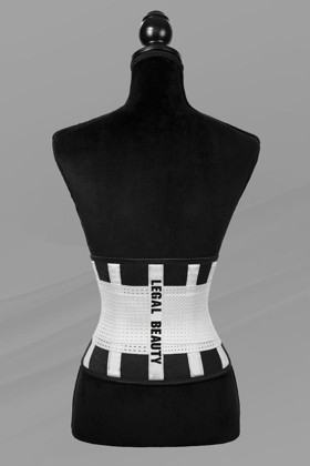 London - Sports Belt with Extra Waistband - White - XS