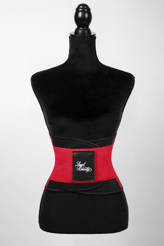 London - Sports Belt with Extra Waistband - Racing red - XS