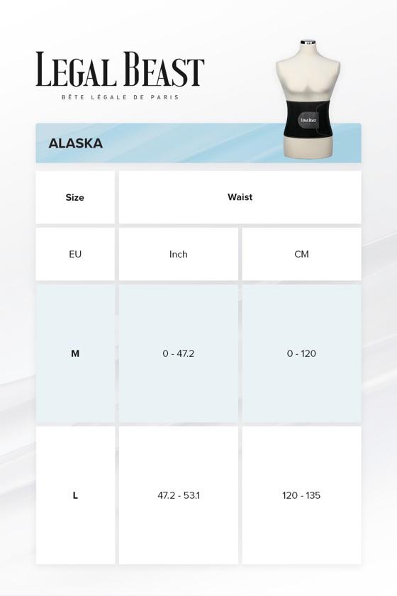 Legal Beast Men Alaska - Sauna belt - Phantom black - L