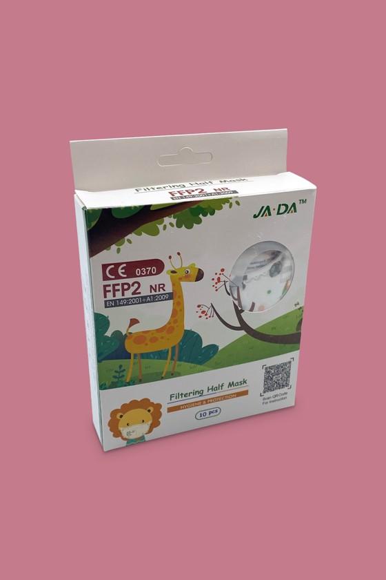 FFP2 szelep nélküli 5 rétegű arcmaszk - 5 rétegű arcmaszk - Dínós - Gyermek