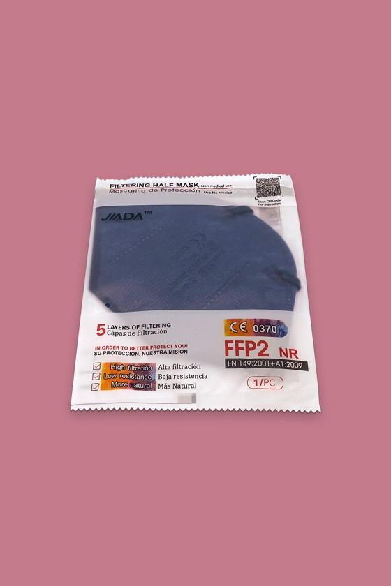 Jiada FFP2 CE 0370 - FFP2 maszk - 10 db - Kék - Szelep nélküli